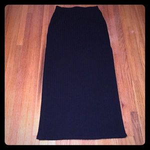 NWOT Abercrombie And Fitch Ribbed Maxi Skirt